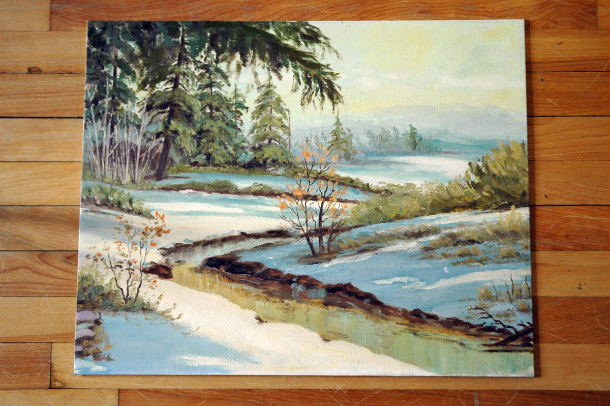 Easter Landscape Painting